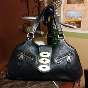 Mulberry pebbled leather handbag